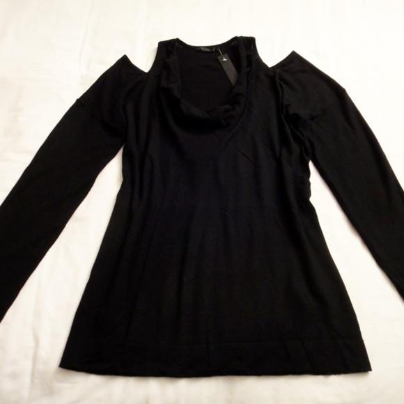 fadf1f92fd7d9e Donna Karan Sweaters | Nwt 100 Cashmere Sweater Cutout Top L | Poshmark